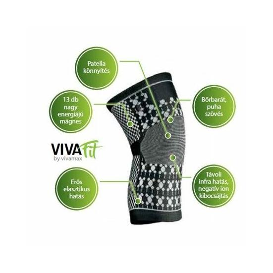 Vivamax mágneses turmalinos térdszorító