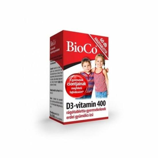 BIOCO D3-VIT. 400IU GYERMEK RAGOTABL. 60X