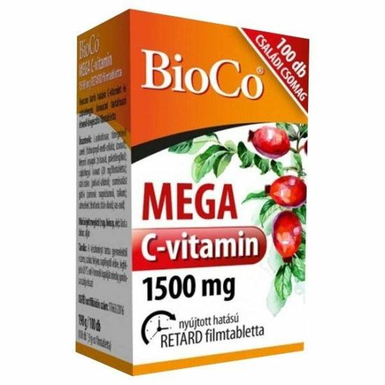 BIOCO MEGA C-VITAMIN 1500MG FILMTABL. 100X