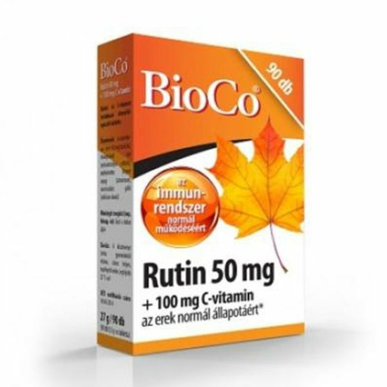 BIOCO RUTIN 50MG C-VIT. 100MG TABL. 90X