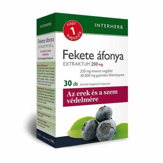 INTERHERB NAPI 1 FEKETEAFONYA KAPSZ 30X