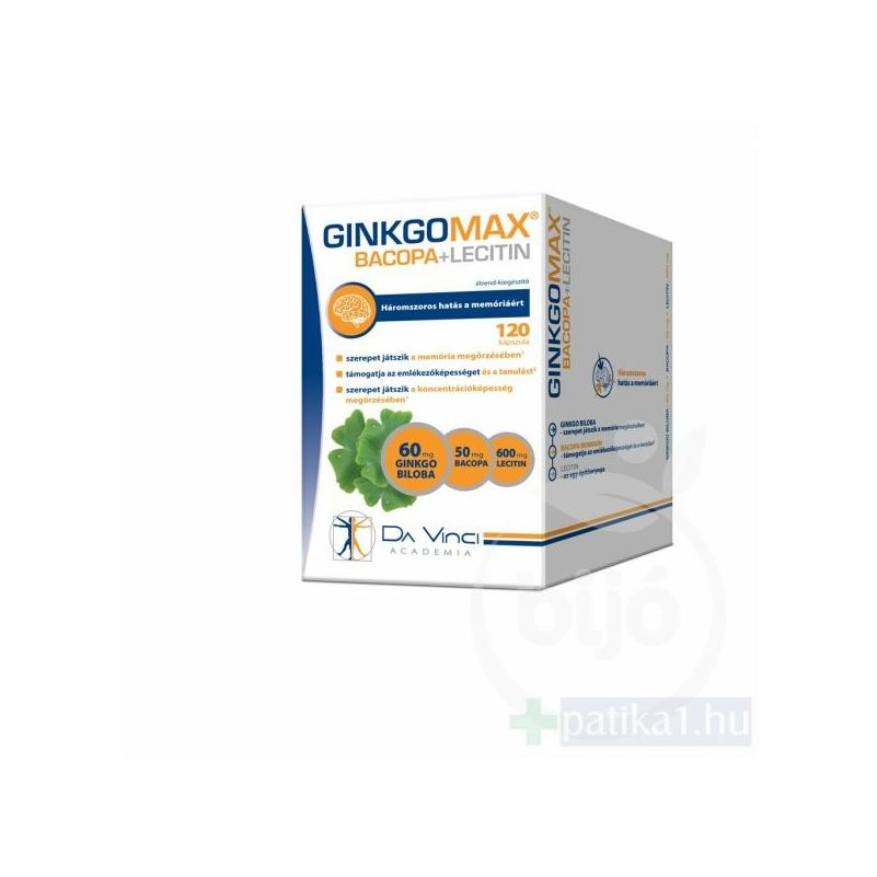 Ginkgomax bacopa lecitin lágy kapszula 120X
