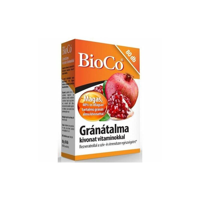 BIOCO GRANATALMA KIV.VITAMINOKKAL TABL. 80X