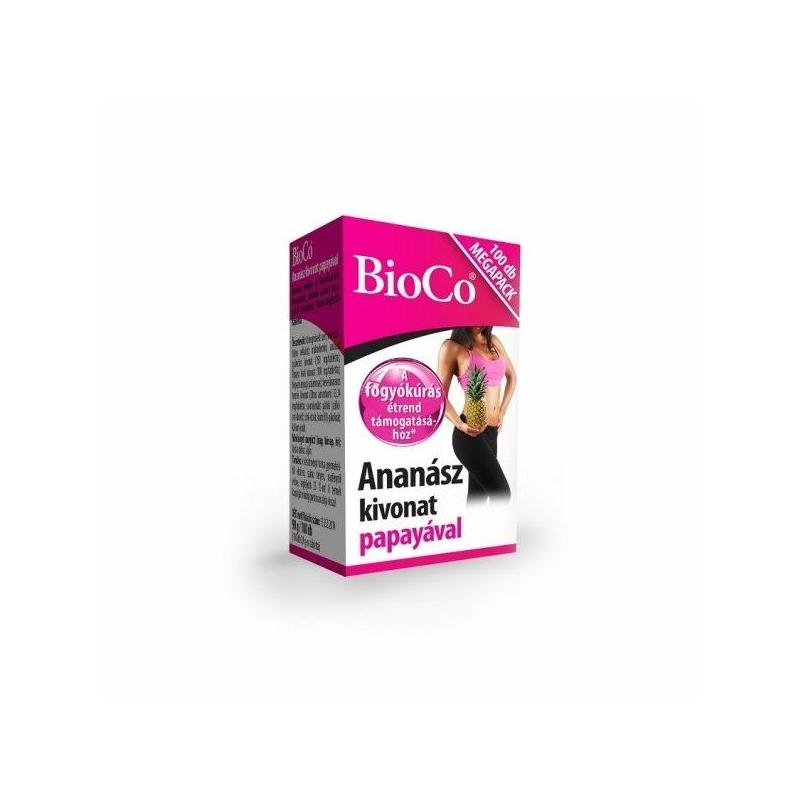 BIOCO ANANASZ PAPAYAVAL TABL. 100X