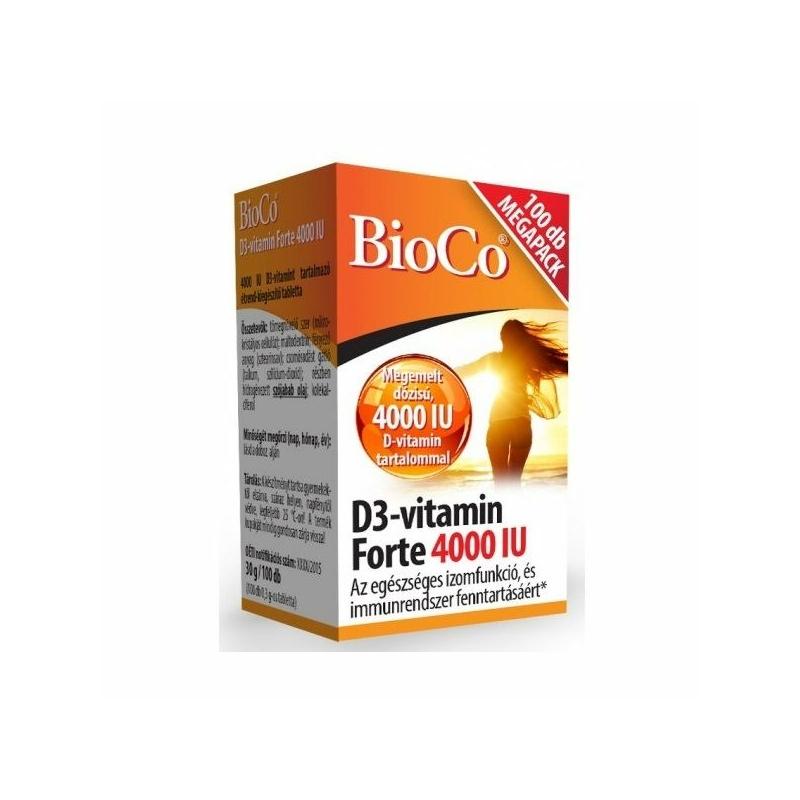 BIOCO D3-VITAMIN FORTE 4000IU TABL. 100X