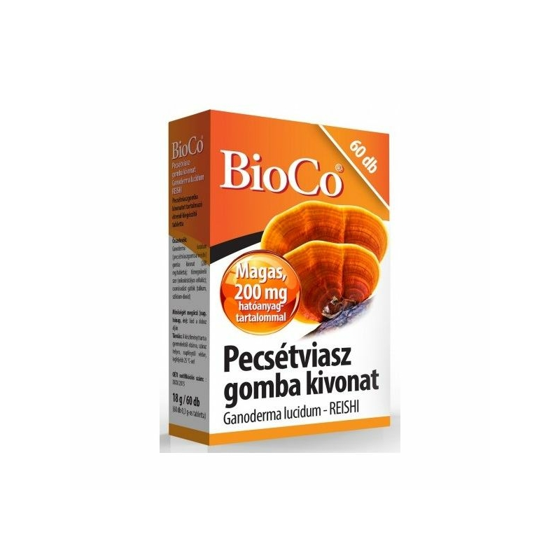 BIOCO PECSETVIASZ GOMBA TABLETTA 60X